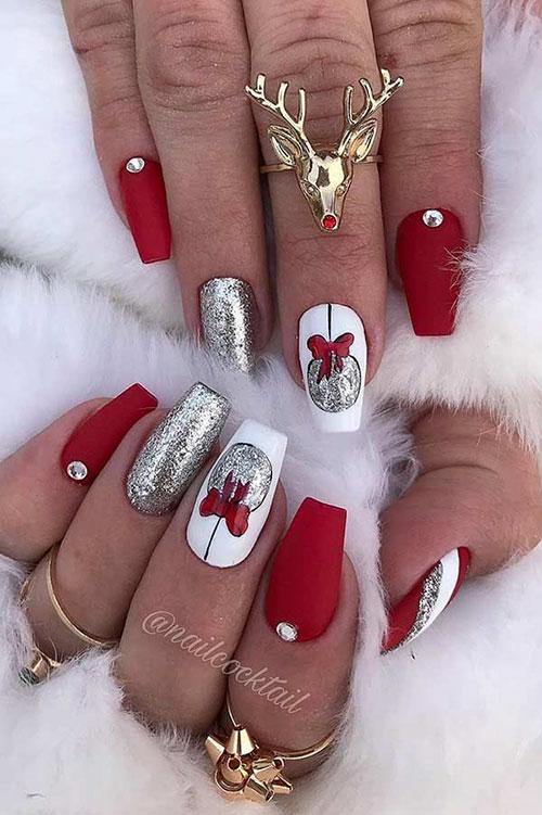 Christmas Plaid Nail Art