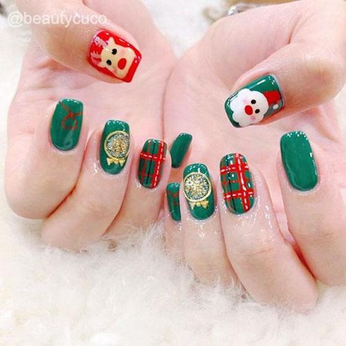 Christmas Ornament Nail Art