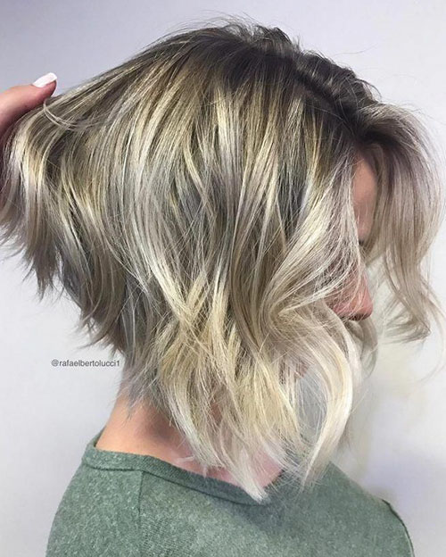 Layers With Angled Bob
