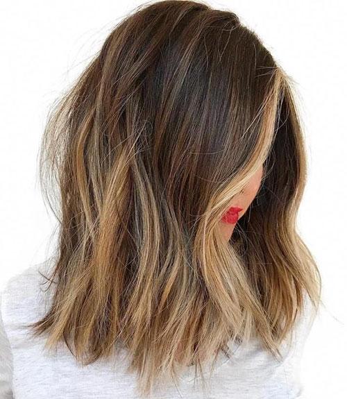 Choppy Lob Haircut
